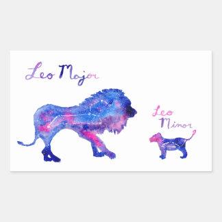 Adesivo Retangular Leo e Cub