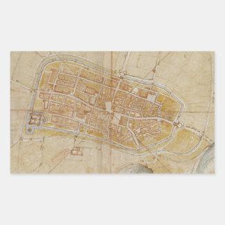Adesivo Retangular Leonardo da Vinci - plano da pintura de Imola