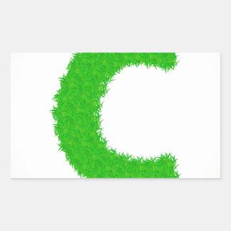 Adesivo Retangular letra da grama