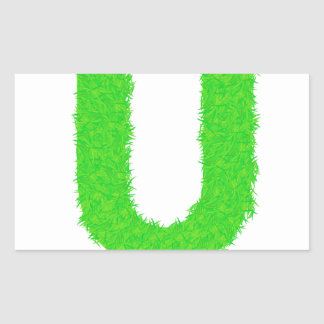 Adesivo Retangular letra verde