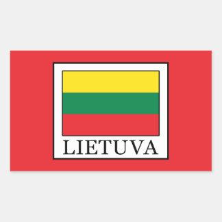Adesivo Retangular Lietuva