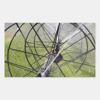 Adesivo Retangular Linha da roda da irrigação