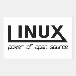 Adesivo Retangular Linux