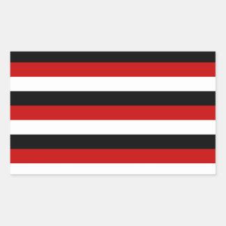 Adesivo Retangular Listras da bandeira de Trinidad and Tobago Yemen