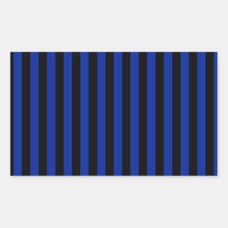 Adesivo Retangular Listras finas - pretas e azul imperial