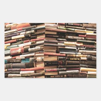 Adesivo Retangular Livros