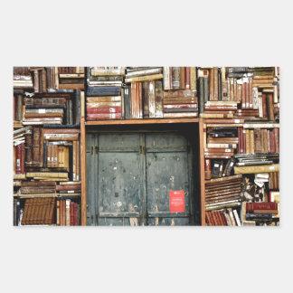 Adesivo Retangular Livros e livros