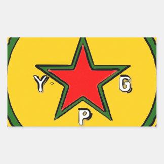 Adesivo Retangular logotipo 2 do ypg