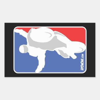 Adesivo Retangular logotipo do estilo de NBA de UpOnOne.com