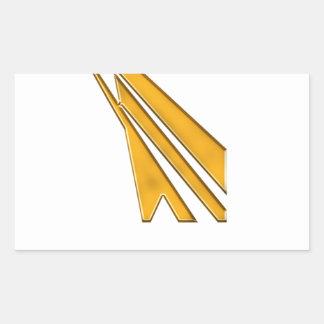 Adesivo Retangular logotipo do ouro