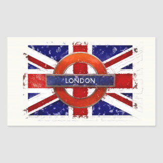 Adesivo Retangular Londres, Inglaterra, Great Britain Union Jack,