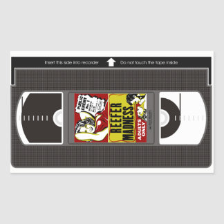 Adesivo Retangular Loucura VHS do Reefer