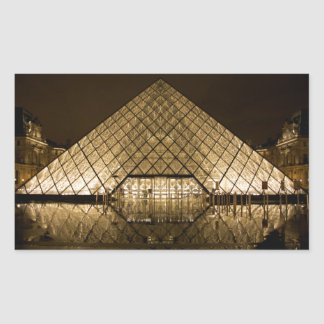 Adesivo Retangular Louvre, Paris/France