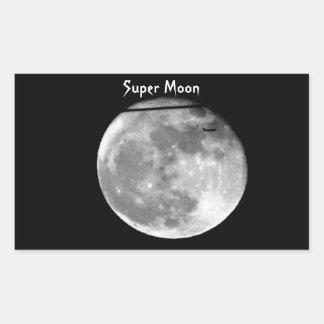 Adesivo Retangular Lua super com a passagem do avião/customizável!