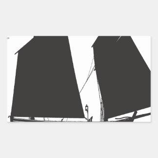 Adesivo Retangular lugger do país 1887 ocidental - fernandes tony