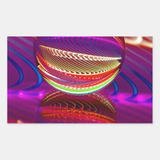 Adesivo Retangular Luminosidade na bola de cristal