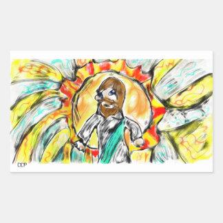 Adesivo Retangular Luz de Jesus