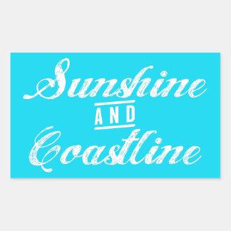 Adesivo Retangular Luz do sol e litoral