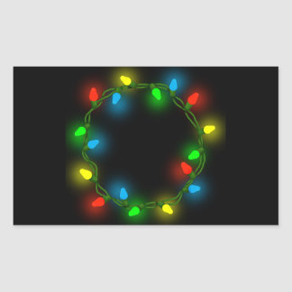 Adesivo Retangular Luzes redondas do Natal