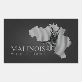Adesivo Retangular Malinois - pastor belga - Mechelaar - Maligator