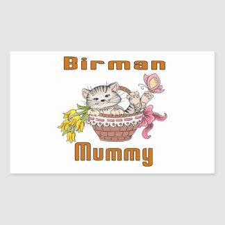 Adesivo Retangular Mamã do gato de Birman