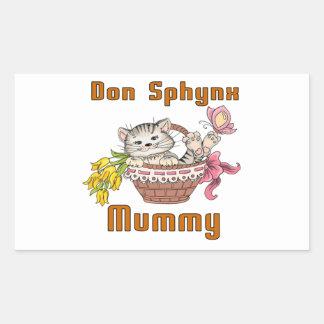 Adesivo Retangular Mamã do gato de Don Sphynx