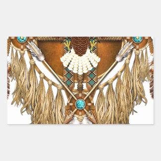 Adesivo Retangular Mandala da águia americana - revisada