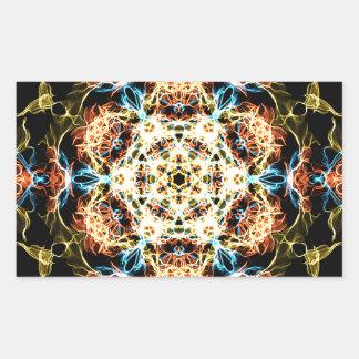 Adesivo Retangular Mandala da iluminação