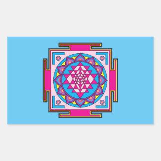 Adesivo Retangular Mandala de Sri Yantra