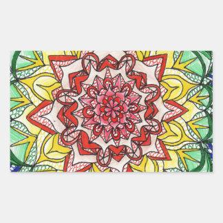 Adesivo Retangular Mandala do arco-íris