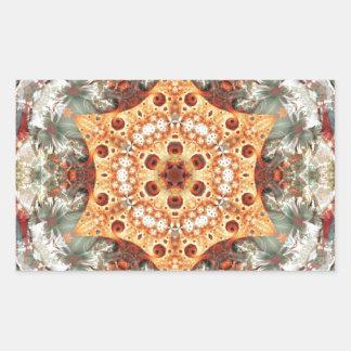 Adesivo Retangular Mandalas do coração da liberdade 24 presentes