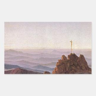Adesivo Retangular Manhã em Riesengebirge - Caspar David Friedrich