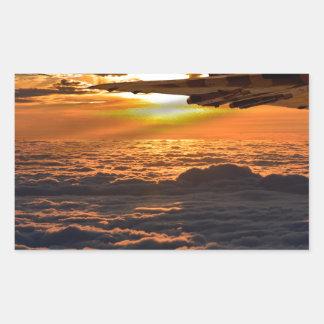 Adesivo Retangular Manobra do por do sol do bombardeiro de Vulcan
