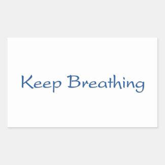 Adesivo Retangular Mantenha respirar