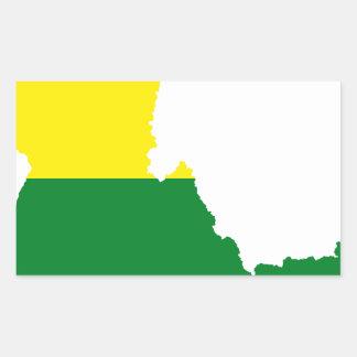 Adesivo Retangular Mapa da bandeira de Idaho LGBT