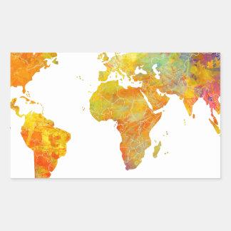 Adesivo Retangular mapa do mundo