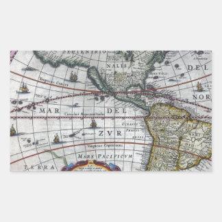 Adesivo Retangular mapa velho Americas
