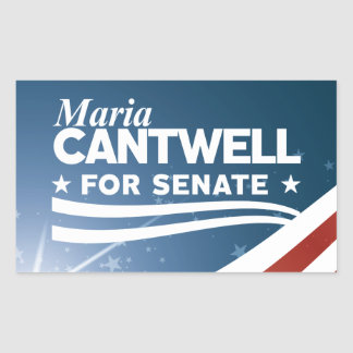 Adesivo Retangular Maria Cantwell