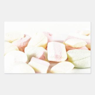 Adesivo Retangular Marshmallows dos doces