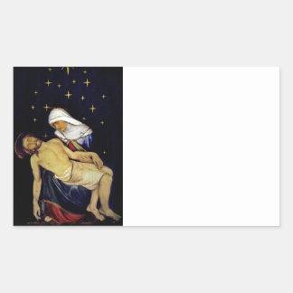 Adesivo Retangular Mary que guardara Jesus