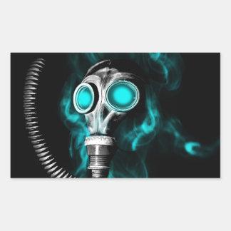Adesivo Retangular Máscara de gás