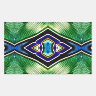 Adesivo Retangular Máscaras ricas bonito da lavanda azul verde