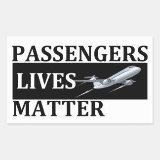 Adesivo Retangular Matéria das vidas dos passageiros