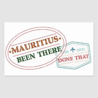 Adesivo Retangular Maurícia feito lá isso