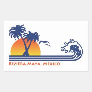 Adesivo Retangular Maya México de Riviera