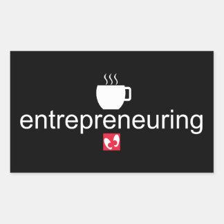 Adesivo Retangular Mayniax que marca o preto de Entrepreneuring