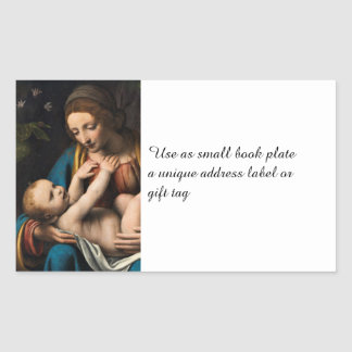 Adesivo Retangular MED Kristusbarnet de Madonna