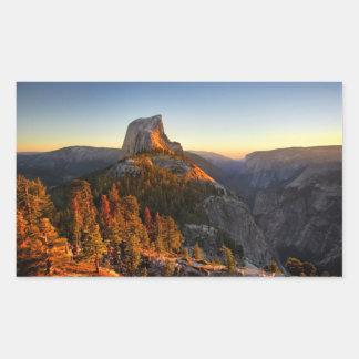 Adesivo Retangular Meia abóbada no detalhe do por do sol - Yosemite