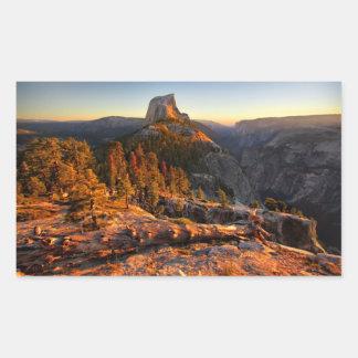 Adesivo Retangular Meia abóbada no por do sol - Yosemite