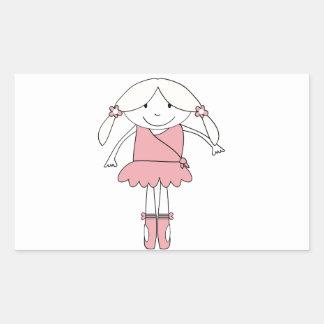 Adesivo Retangular Menina da bailarina